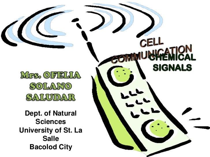 Dept. of Natural    SciencesUniversity of St. La      Salle   Bacolod City