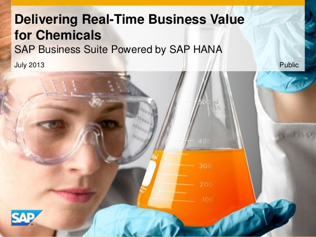 July 2013 Delivering Real-Time Business Value for Chemicals SAP Business Suite Powered by SAP HANA Public