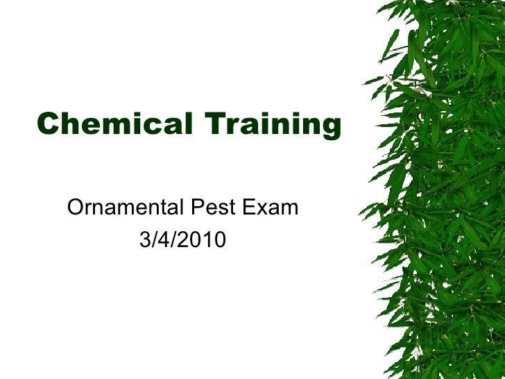 Chemical Training Ornamental Pest Control
