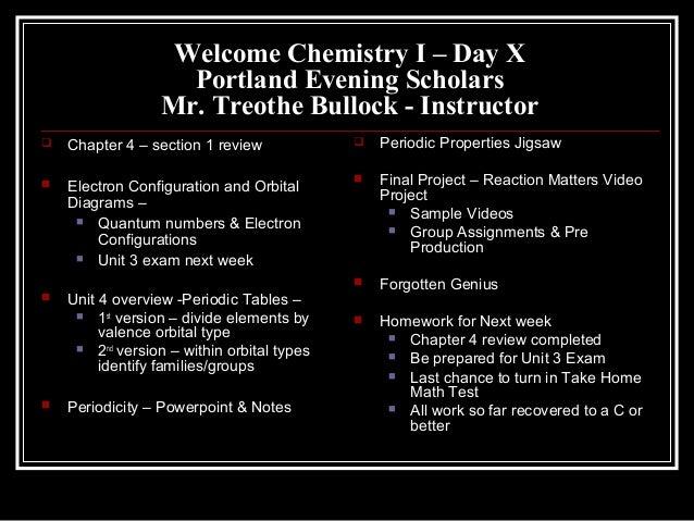 Chem I Day X