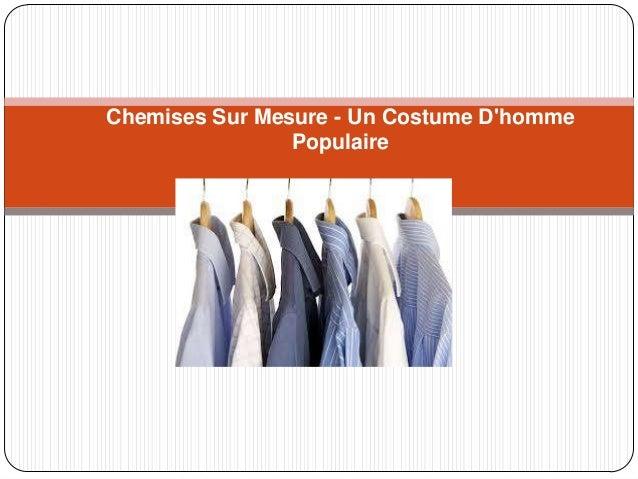 Chemises Sur Mesure - Un Costume D'homme Populaire