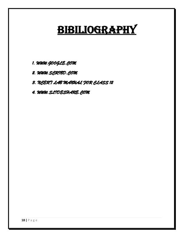 Chemistry Investigatory Project (Class 12 ,CBSE)