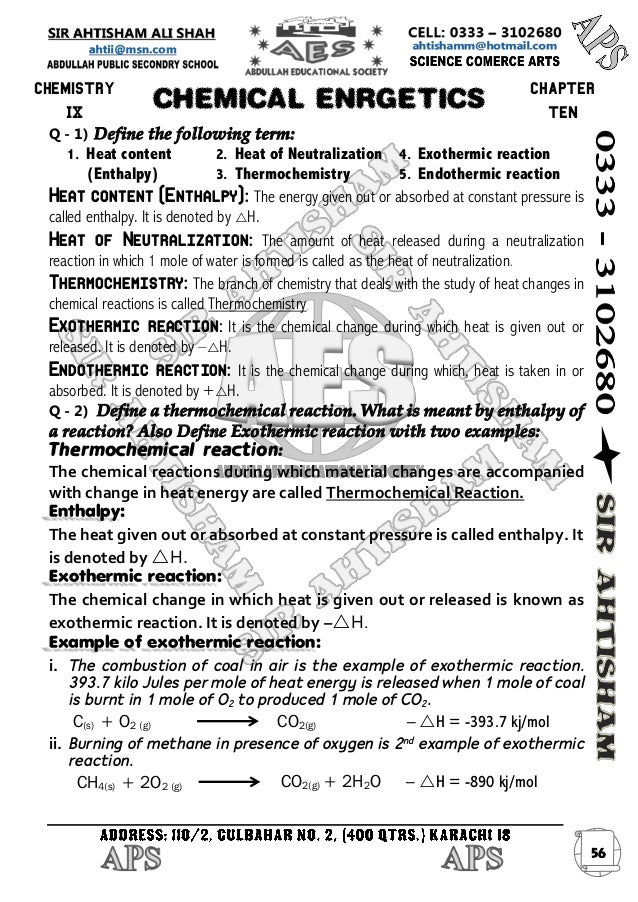 Chemistry terms to define?