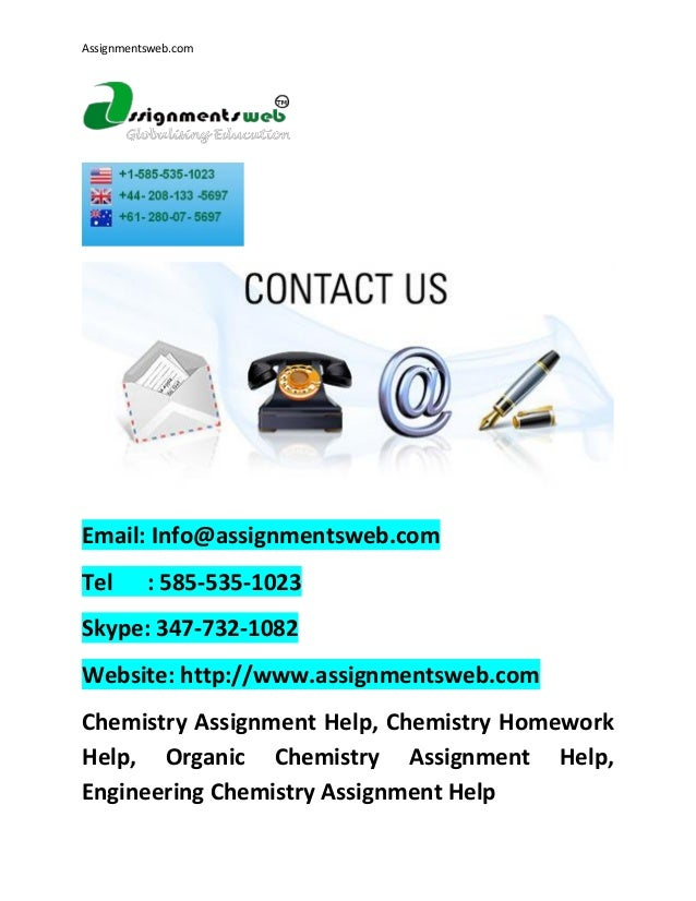 Chemistry Assignment Help Online