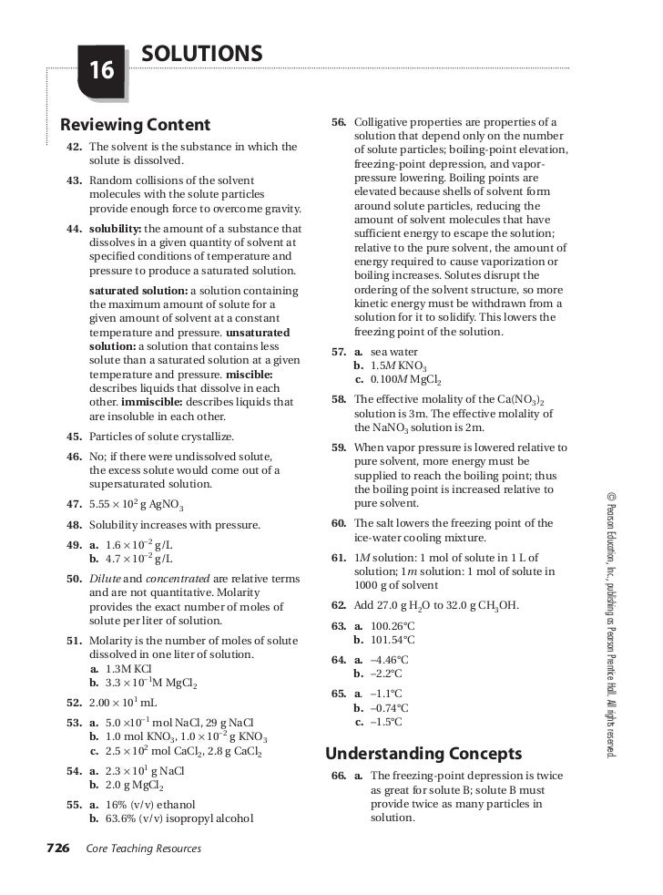 Prentice hall chemistry worksheet answers chapter 7