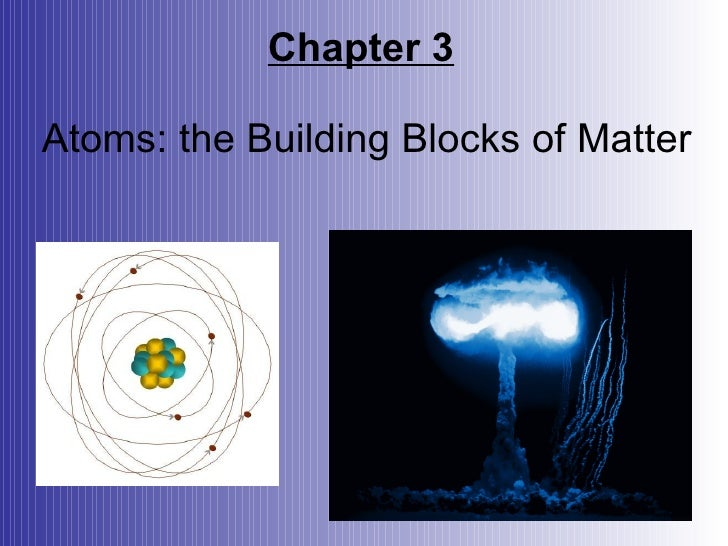 Chemistry Chapter 3