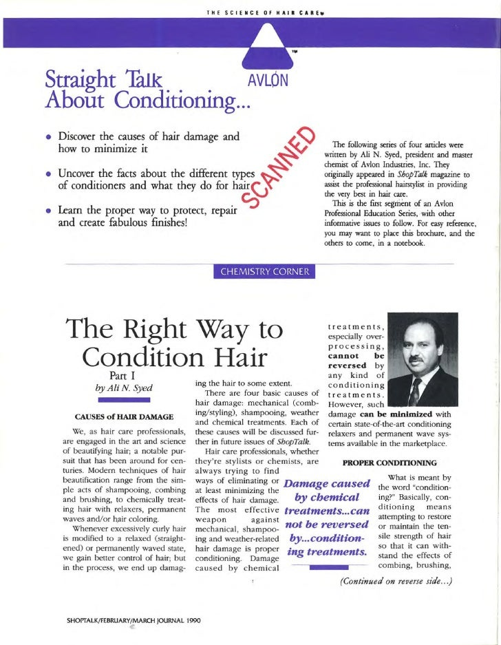 Straight Talk        AVLON About Conditioning...                                                                 ~ • Disco...