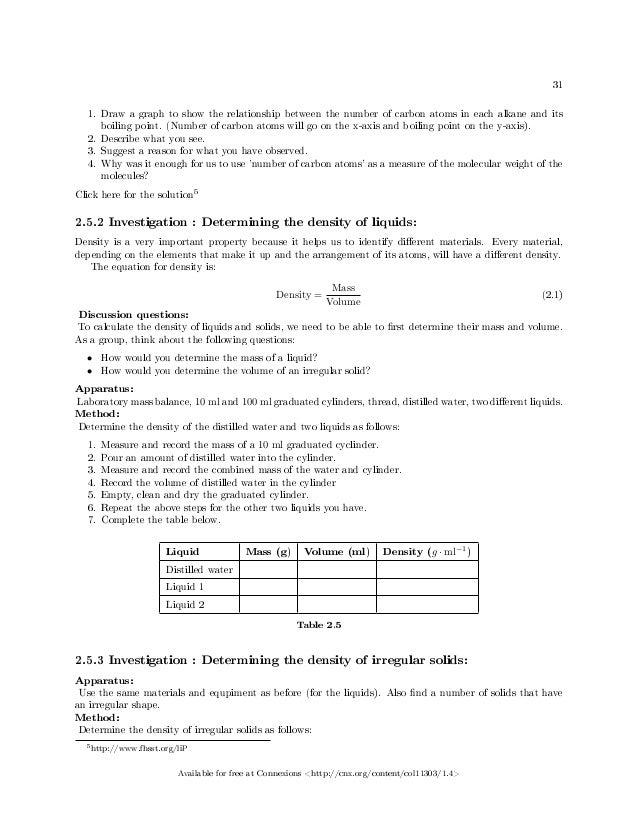 Chemistry worksheets grade 10
