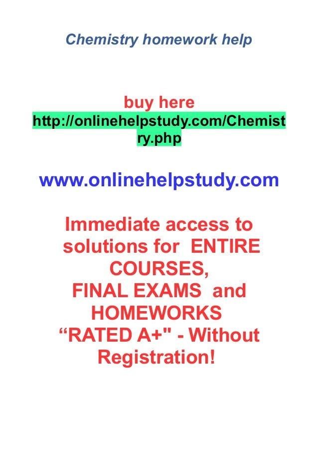 Fascinating Chemistry Coursework Help