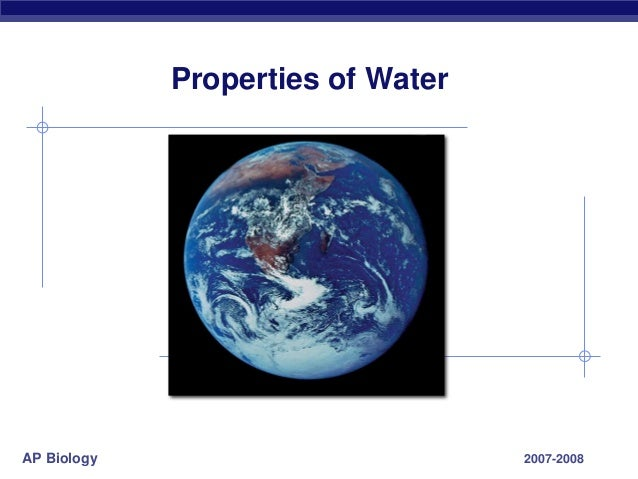ap biology the properties of water essay Ap biology photosynthesis essay rubric custom paper help  name _____  period _____ ap biology water essay grading rubric the unique properties ( characteristics) of water make life possible on earth select photosynthesis ap  biology lab.