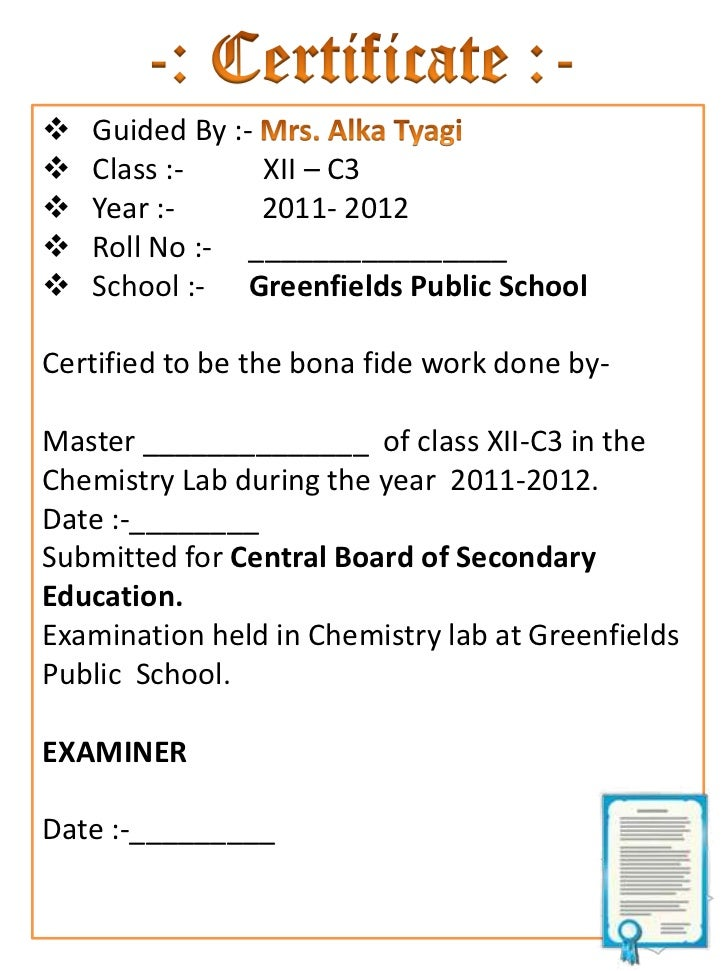 Certificate format for school project class 12 image collections certificate sample for project file choice image certificate certificate sample for project file yadclub image collections yadclub Images