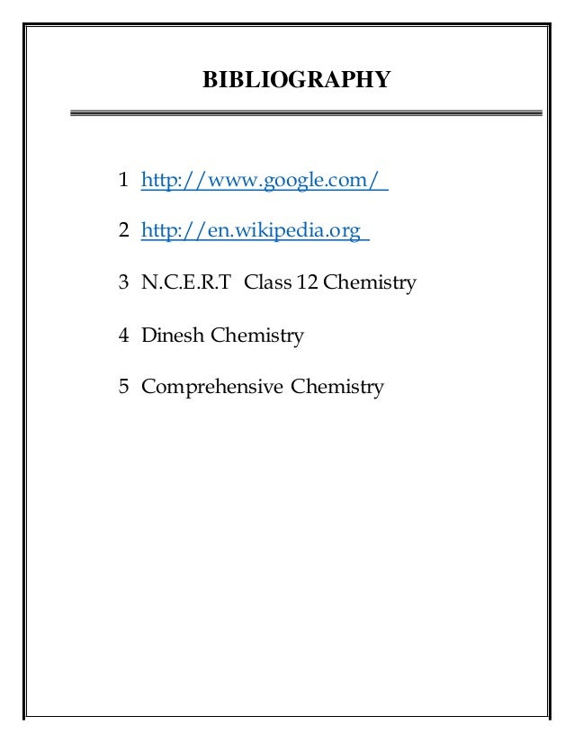chemistry project Chemistry projects for students, teachers, and self-learners submit new chemistry projects or review existing projects.