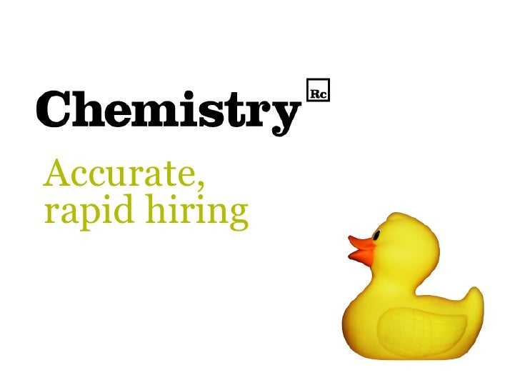 Chemistry Recruitment - Our Story