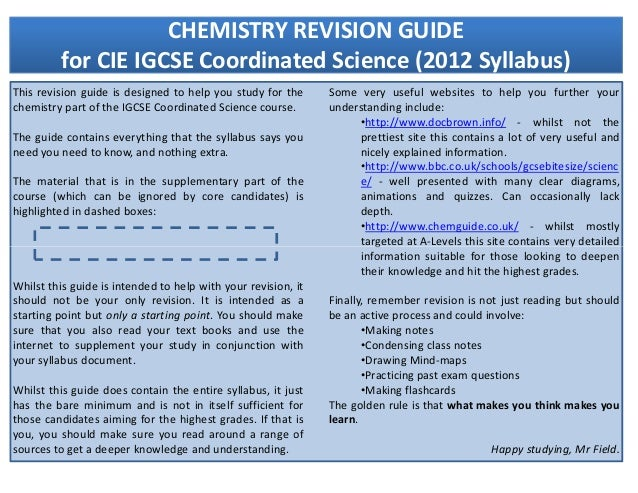 Chemistry revision pack_-_2012