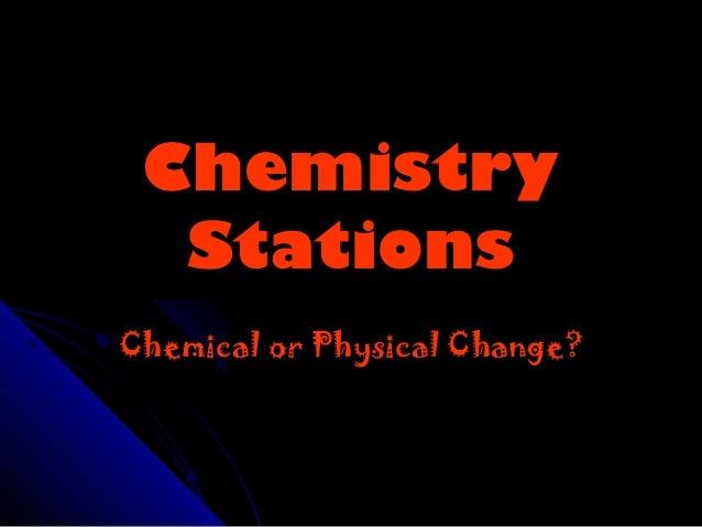 Chemistry stations 2012