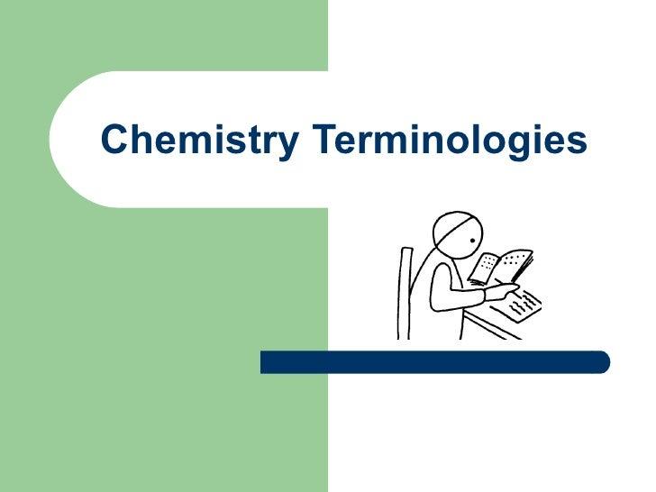 Chemistry Terminologies