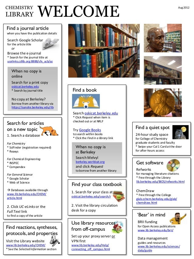 UC Berkeley Chemistry Library tips