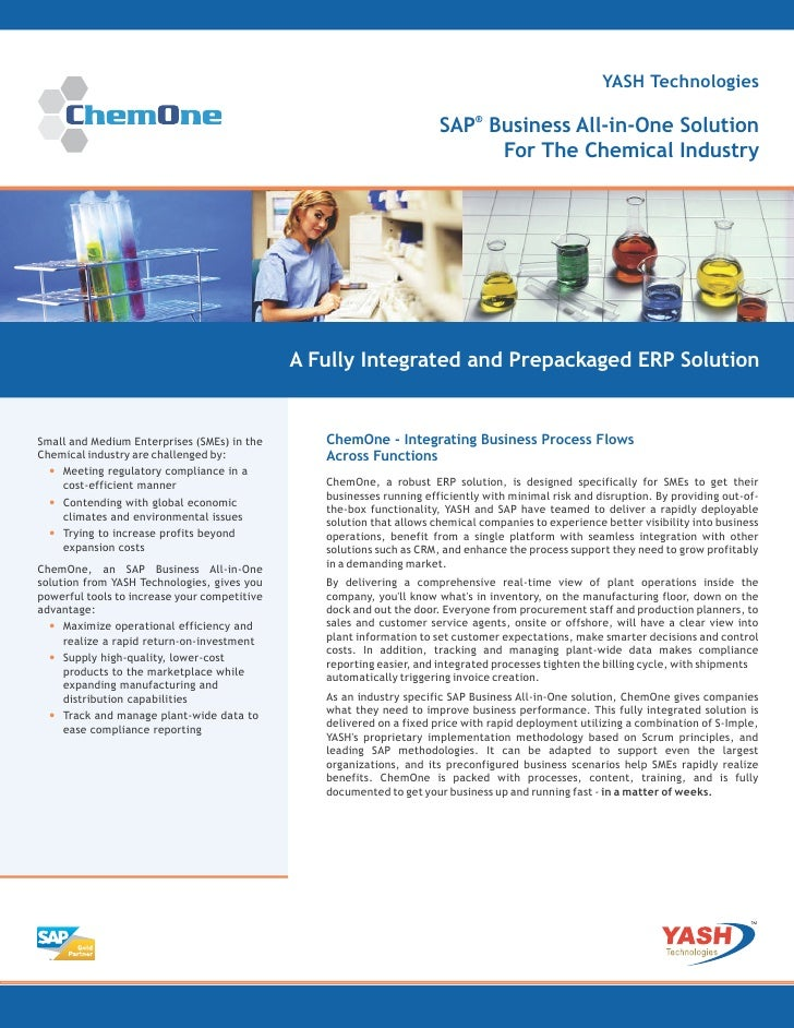 ChemOne:  SAP Business All-in-One Solution For The Chemical Industries