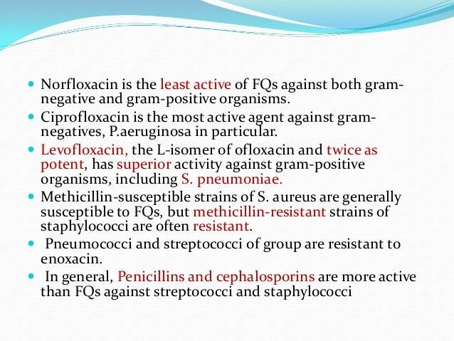 Cross resistance between ciprofloxacin and levofloxacin uses