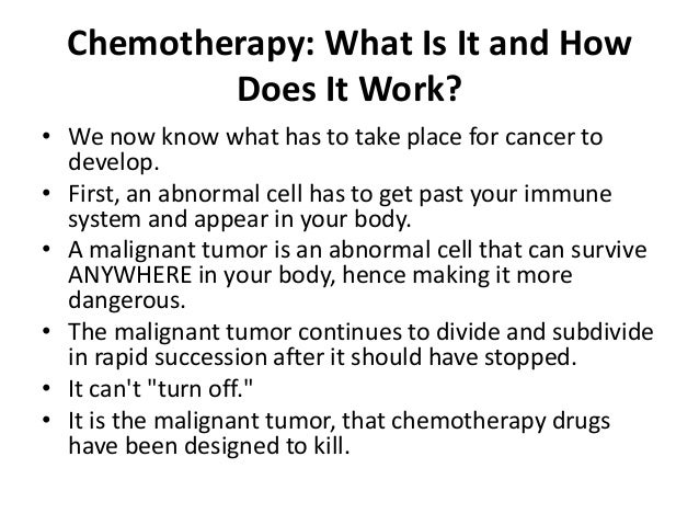 How much does chemotherapy ?
