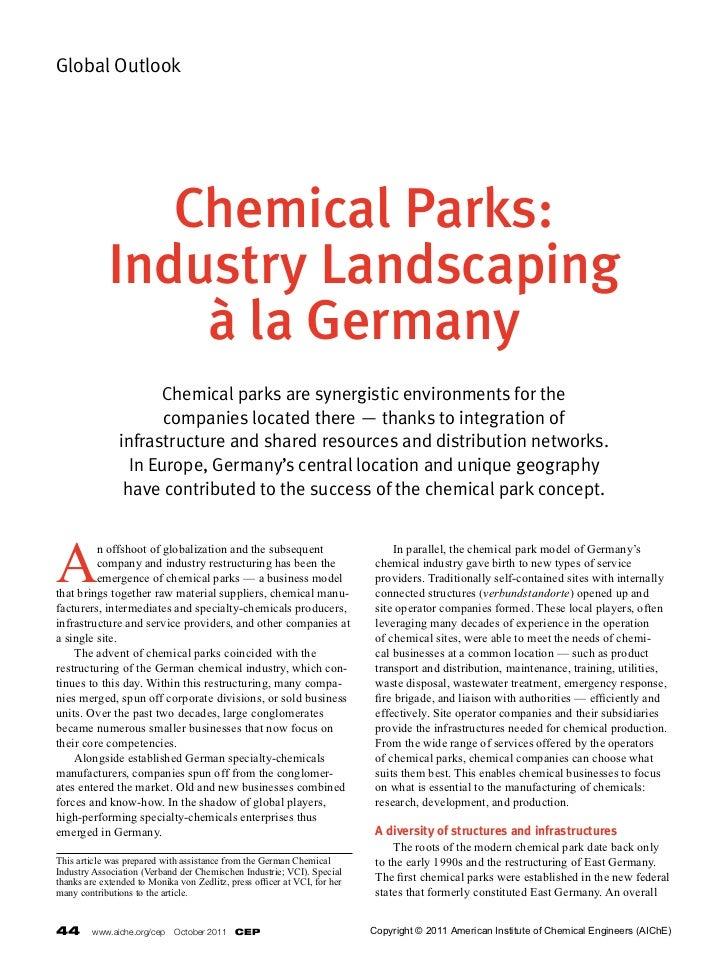 Chem. Parks & Standort Marl - AICHE Profile