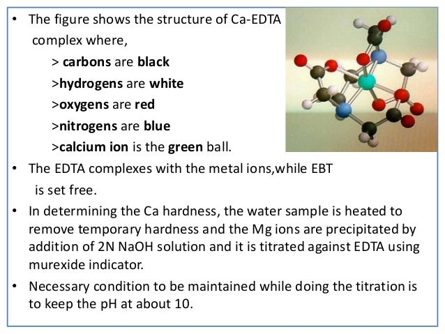 """water hardness determination Ions present in the water can greatly increase and cause the water to be classified as hard water this term results from the fact that calcium and magnesium ions in water combine with soap molecules, making it """"hard"""" to get suds in test 13, calcium and water hardness, an ion- selective electrode was used to determine."""