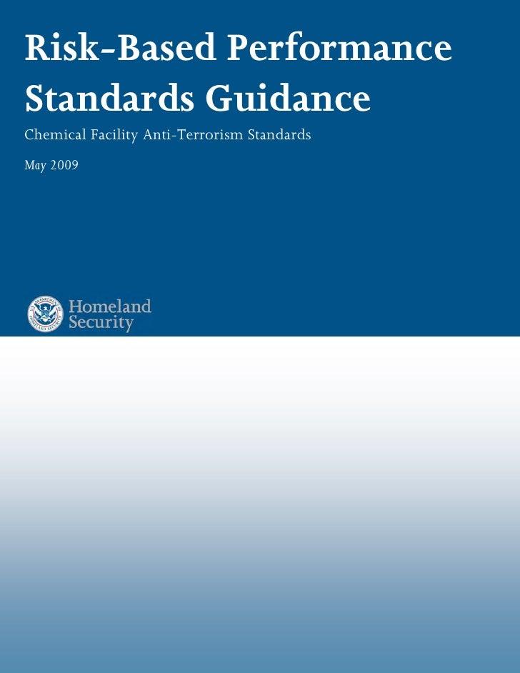 Chemsec Cfats Riskbased Performance Standards[1]
