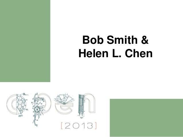 Spaces of Invention Short Presentation: Bob Smith