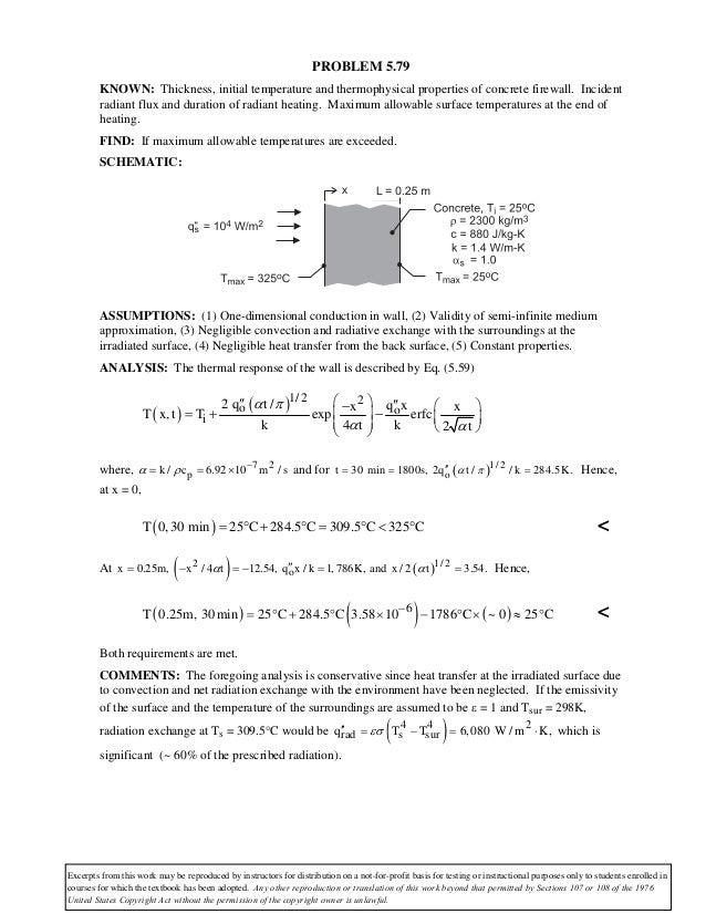 Heat transfer homework