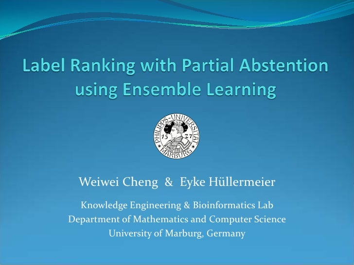 Label Ranking with Partial Abstention using Ensemble Learning