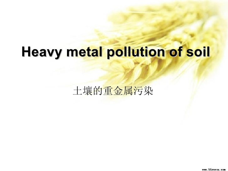 Heavy metal pollution of soil 土壤的重金属污染