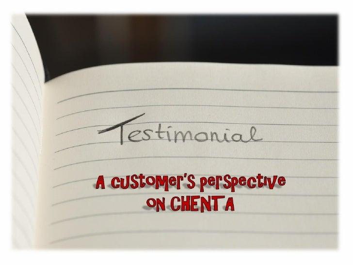 Testimonial for Chenta