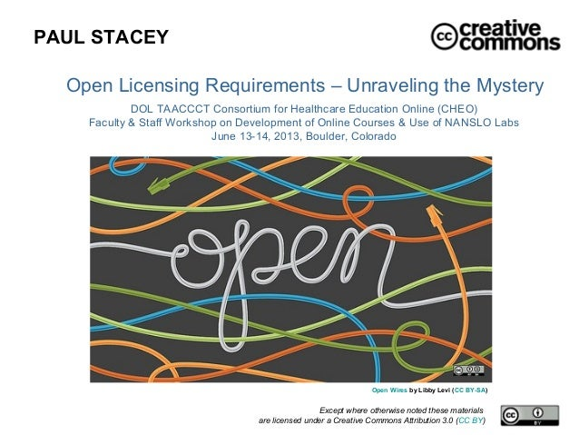 Open Licensing Requirements - Unraveling the Mystery