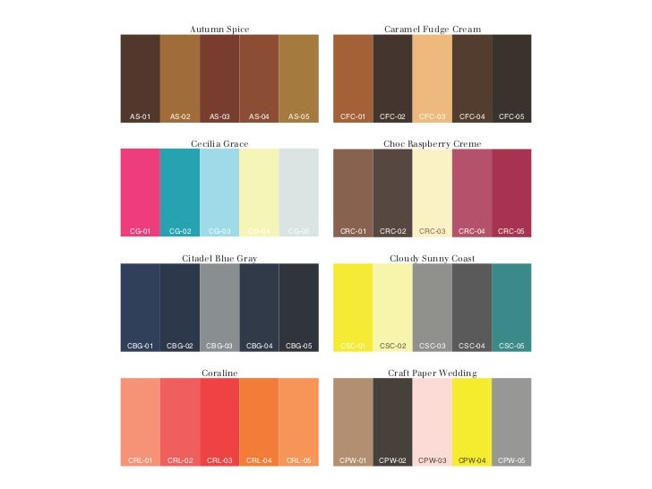 Chereden Creative Fall Winter 2011 Color Palettes