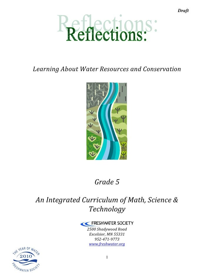 Draft     Learning About Water Resources and Conservation                         Grade 5  An Integrated Curriculum of Mat...