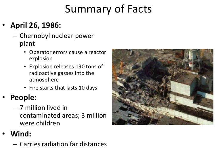 an overview of chernobyl nuclear disaster of 1986 General overview – morbidity  twenty years after the chernobyl disaster,  reactor number four of the chernobyl nuclear power plant in the former soviet.