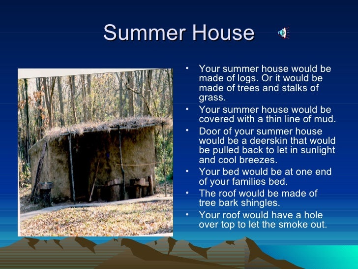Cherokee summer house project