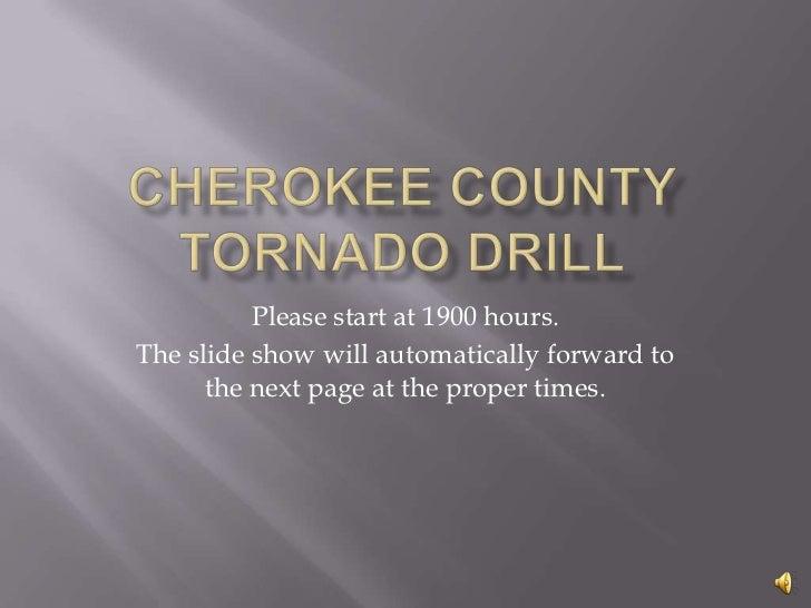 Cherokee County Tornado Drill testing Social Media
