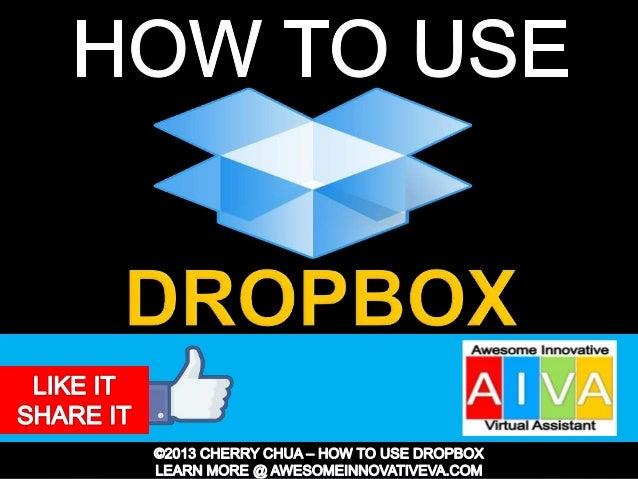 Dropbox Tutorial Guide Presentation