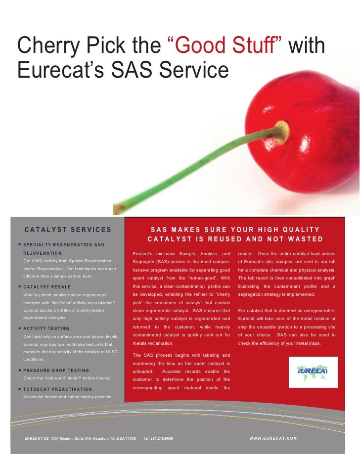 "Cherry Pick the ""Good Stuff"" withEurecat's SAS ServiceCATALYST SERVICES                                              SAS M..."