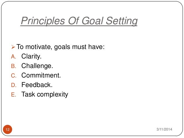 goal setting theory of motivation essay