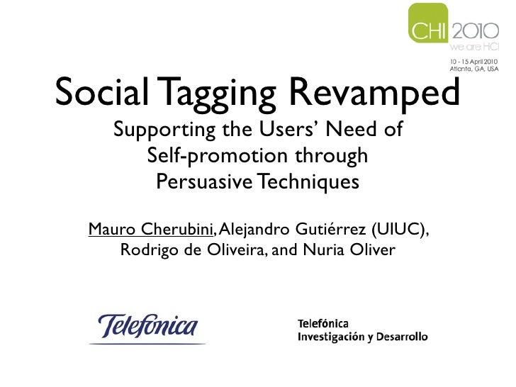 Social Tagging Revamped: Supporting the Users' Need of Self-promotion through Social Filtering