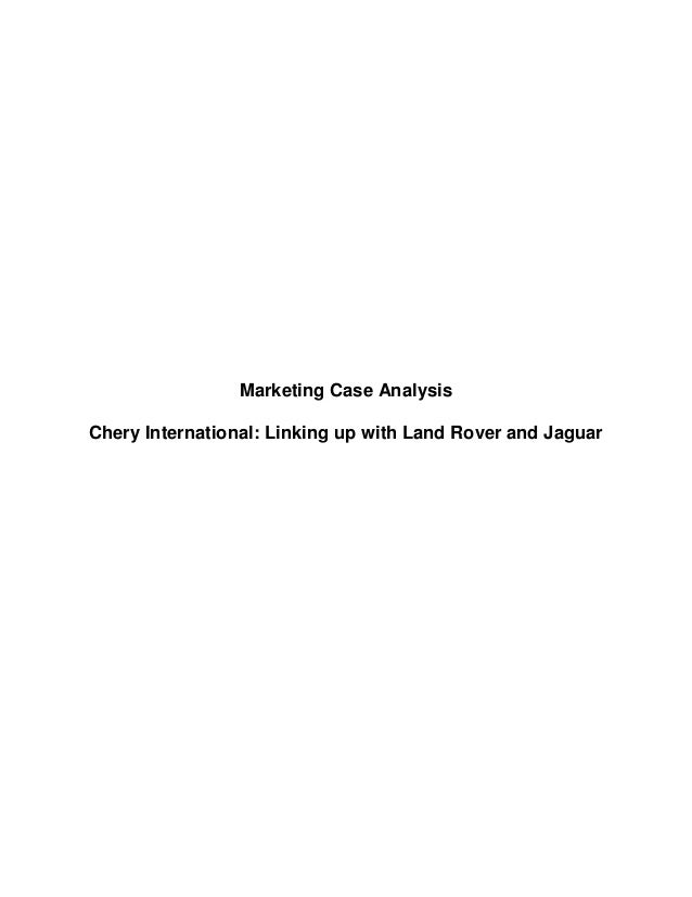 land rover case marketing mix View notes - land_roverlrna_case_writeup[2] from mkt 9716 at cuny baruch marketing management omer nisar 3/6/07 case analysis: land rover north america, inc 1) background analysis: general.