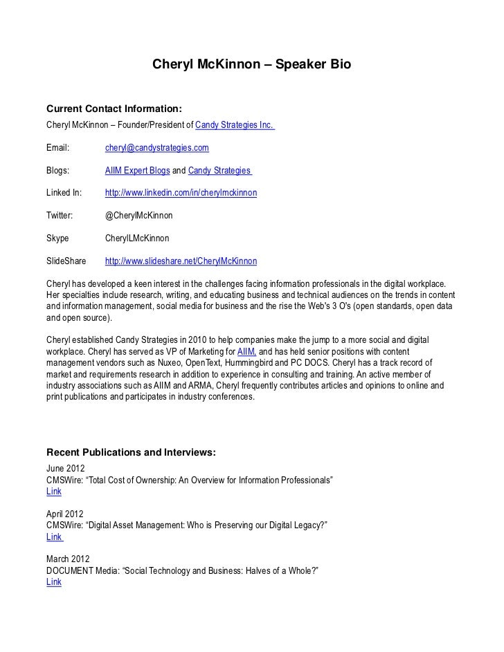 Cheryl McKinnon – Speaker BioCurrent Contact Information:Cheryl McKinnon – Founder/President of Candy Strategies Inc.Email...