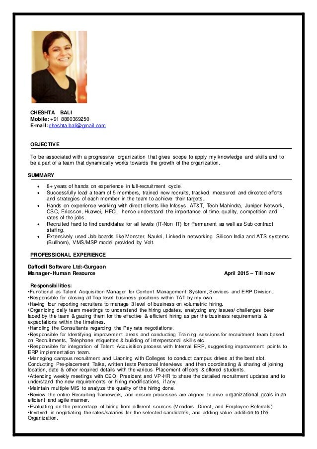 Good looking resume