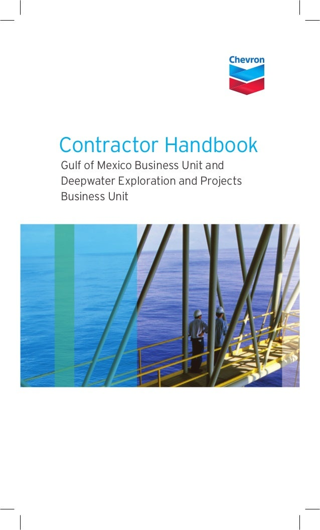 Contractor Handbook Gulf of Mexico Business Unit and Deepwater Exploration and Projects Business Unit