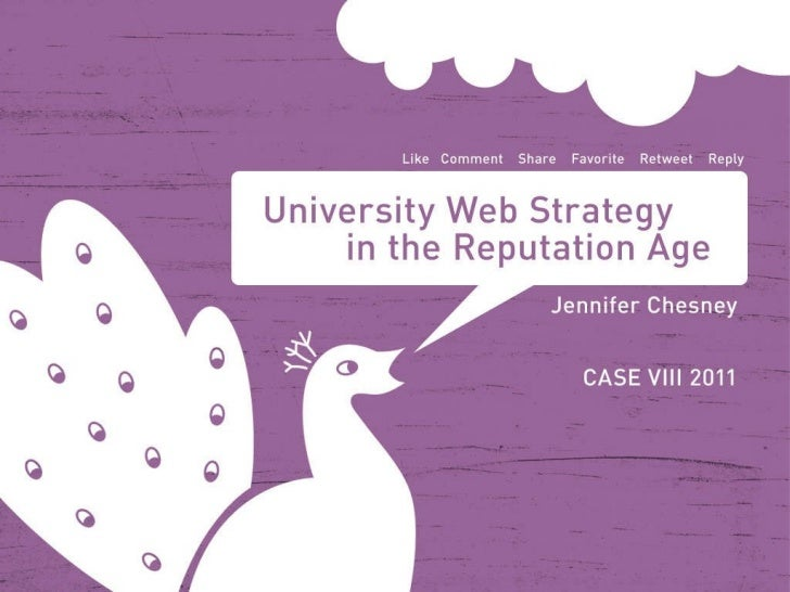 University Web Strategy in the Reputation Age