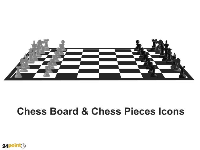 Chess Board and Chess Pieces Icons