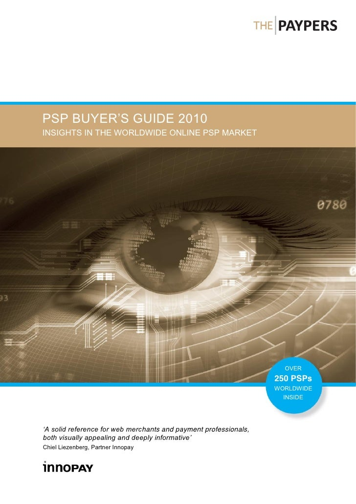 INSIGHTS IN THE WORLDWIDE ONLINE PSP MARKET                                                                              O...
