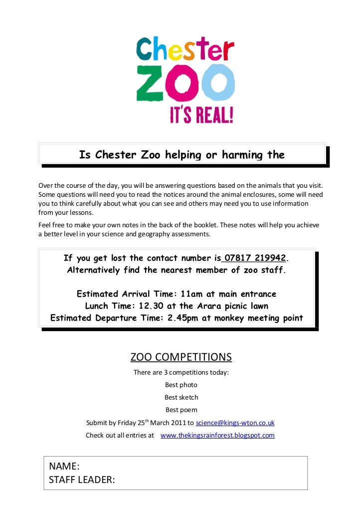 Chester zoo activity_booklet